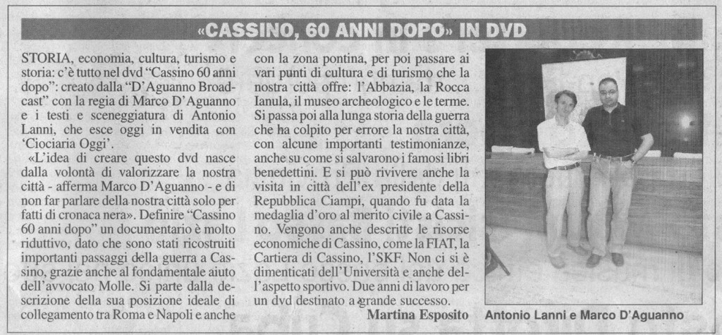 Ciociaria Oggi 05-08-2006